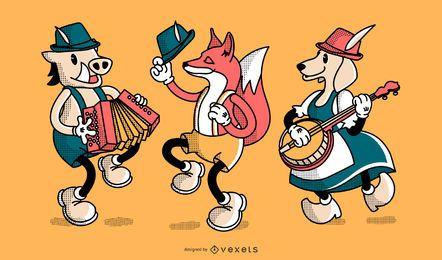 Conjunto de caracteres de Oktoberfest