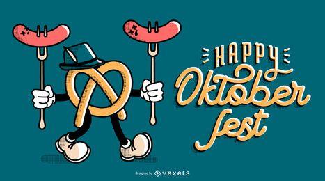 Oktoberfest pretzel banner design