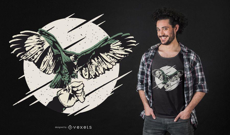 Falknerei-Falkent-shirt Entwurf