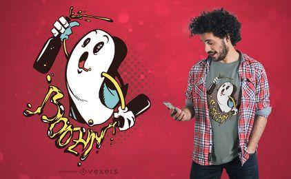 Diseño de camiseta Boozin ghost