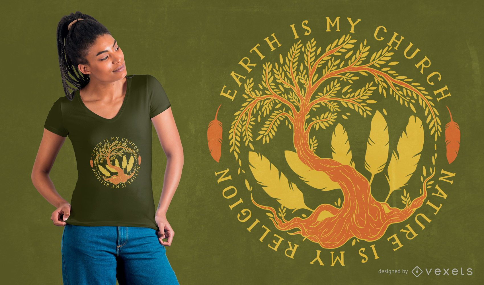Diseño de camiseta de cita de naturaleza
