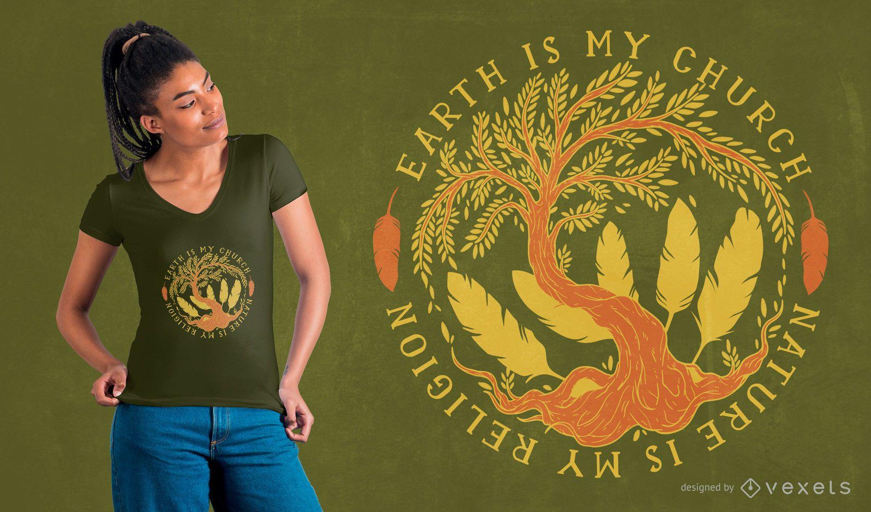 Nature quote t-shirt design