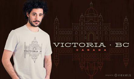 Projeto do t-shirt de Victoria BC Canadá