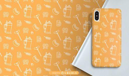 Oktoberfest line pattern design