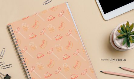 Oktoberfest seamless pattern design