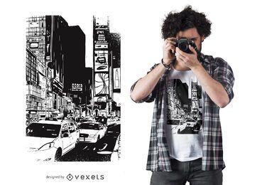Diseño de camiseta Time Square