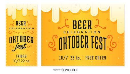 Conjunto de Banner de cerveja Oktoberfest