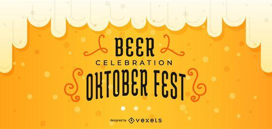 Oktoberfest diseño vectorial de banner editable