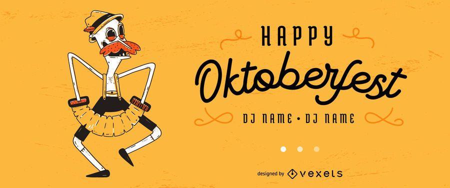 Oktoberfest editável Slide Vector Design