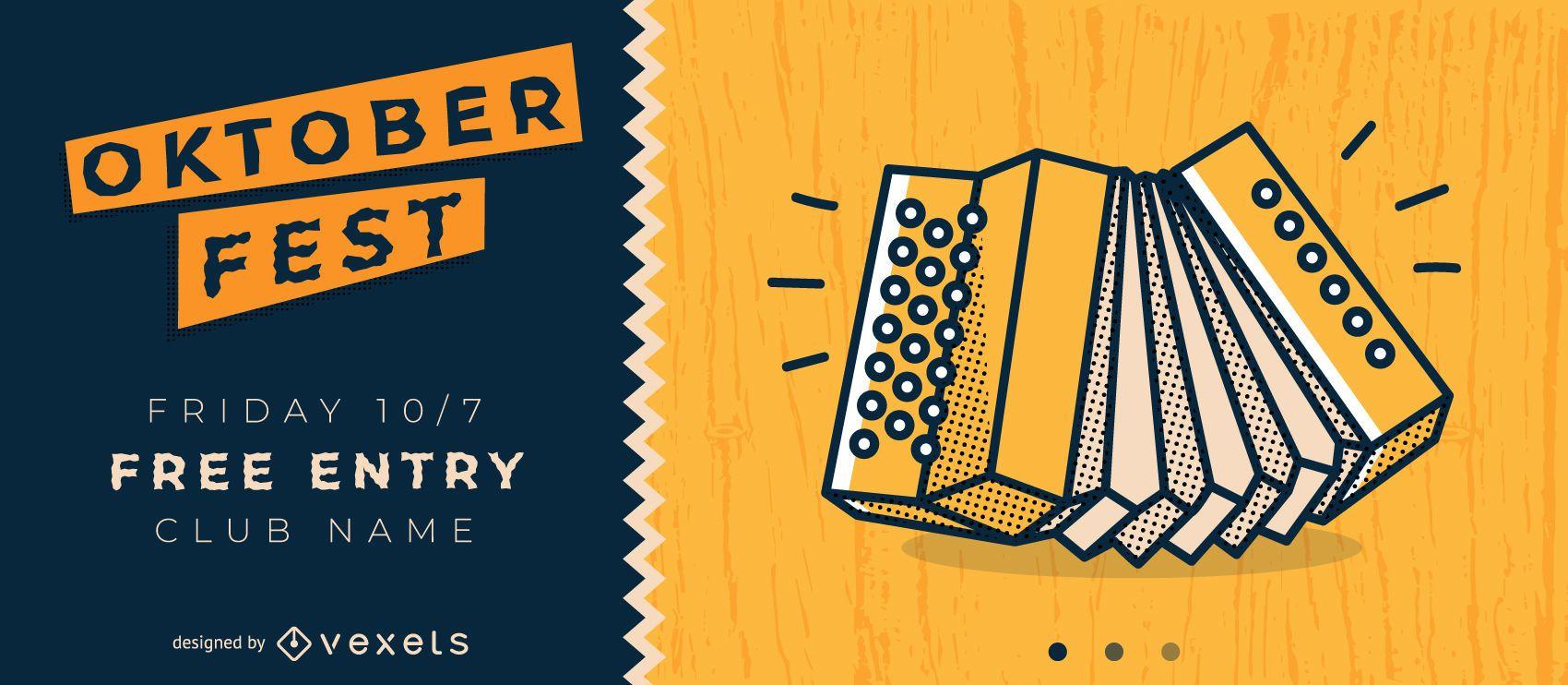 Oktoberfest Party Invitation Vector Design