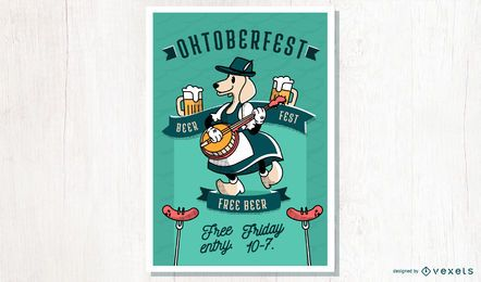 Oktoberfest cartoon poster design