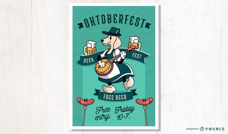 Oktoberfest Cartoon Plakatgestaltung
