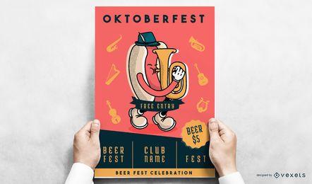 Design de cartaz de wiener Oktoberfest