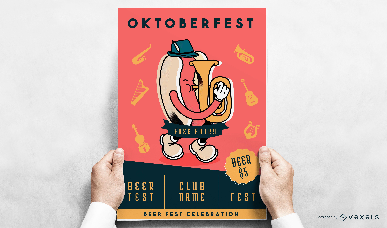 Oktoberfest wiener poster design