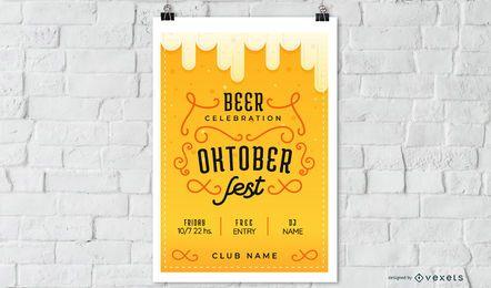 Cartel de la cerveza Oktoberfest