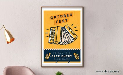 Oktoberfest accordion poster design