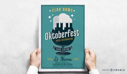 Cartel de vaso de cerveza Oktoberfest