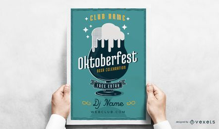 Cartel del vaso de cerveza Oktoberfest