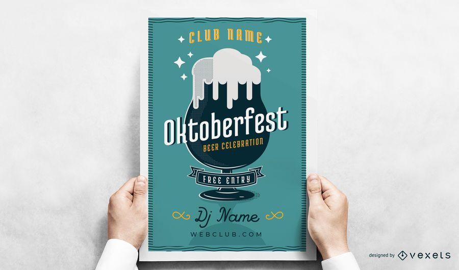 Cartaz de vidro de cerveja Oktoberfest