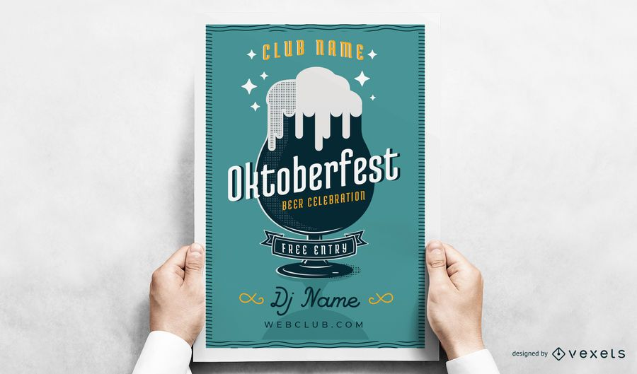 Oktoberfest beer glass poster