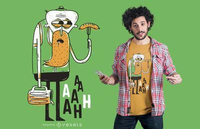 Diseño espeluznante de la camiseta del hombre del oktoberfest
