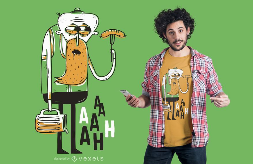 Design de t-shirt do homem oktoberfest assustador