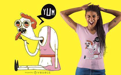 Design de t-shirt mulher oktoberfest assustador