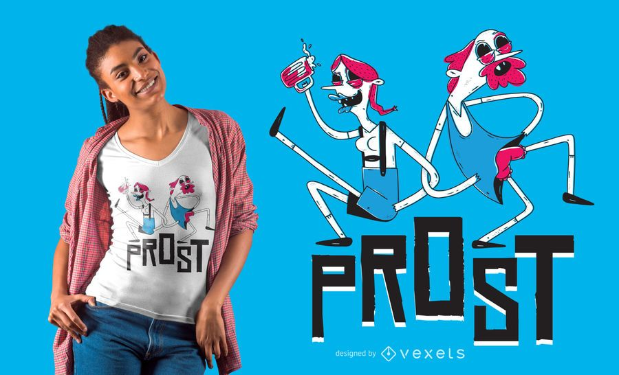 Creepy oktoberfest couple t-shirt design