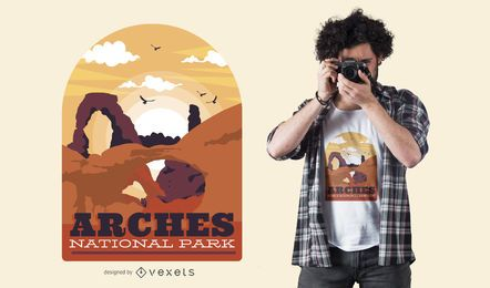 Diseño de camiseta Arches Park