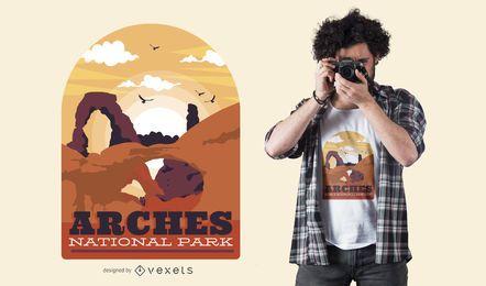 Diseño de camiseta de arches park