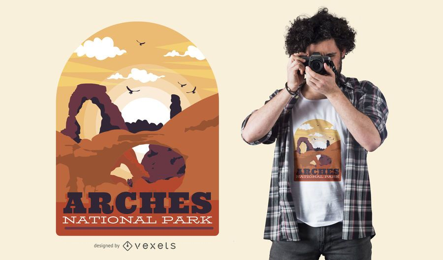 Arches park t-shirt design