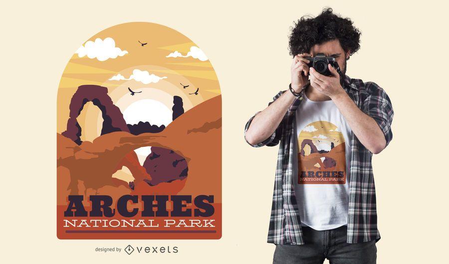 Arcos park design de t-shirt