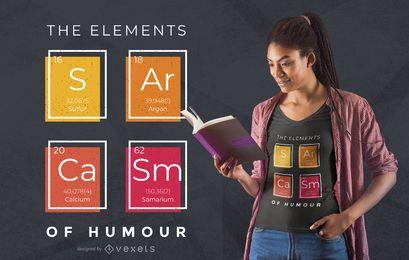 Diseño de camiseta de elementos de sarcasmo