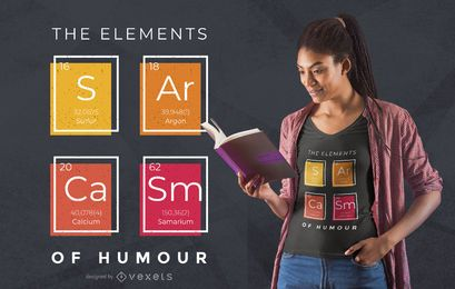 Sarcasm elements t-shirt design