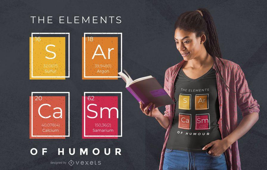 Sarkasmus Elemente T-Shirt Design