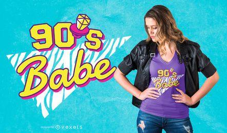 90er Jahre Baby T-Shirt Design