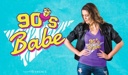 Diseño de camiseta de bebé de los 90