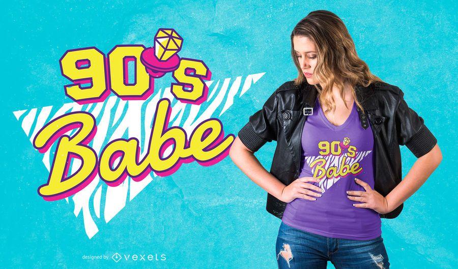 90's babe t-shirt design