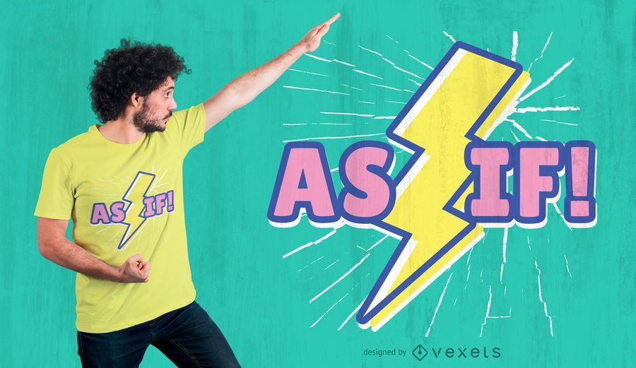 Retro lightning quote t-shirt design