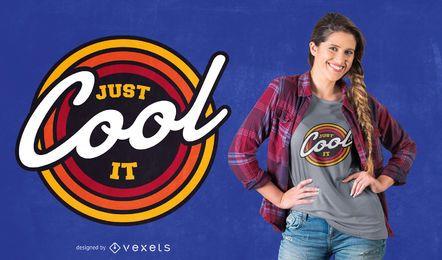 Design de t-shirt legal citação retrô