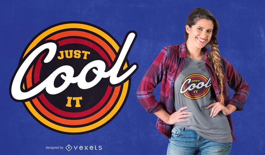 Diseño de camiseta retro cool quote