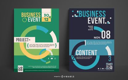 Business Event Poster Set