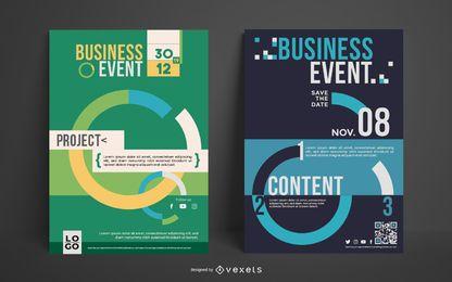 Conjunto de pôster de evento de negócios