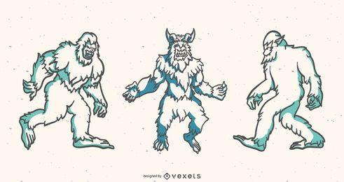 Yeti duotono conjunto de vectores