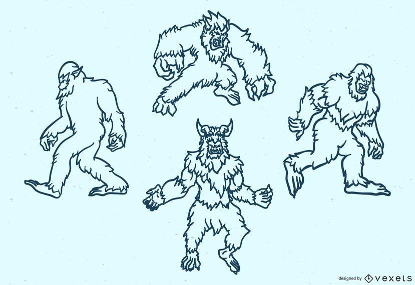 Legendary monsters stroke set