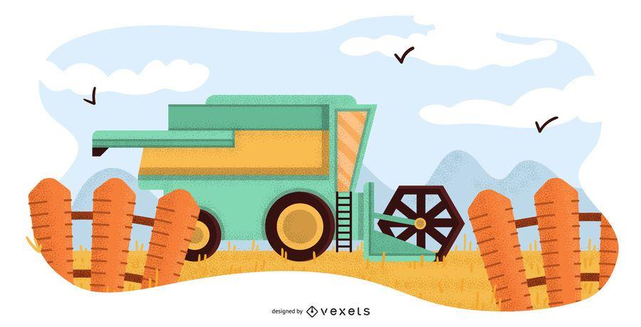 Farm machine illustration