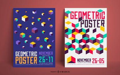 Conjunto de cartaz geométrico