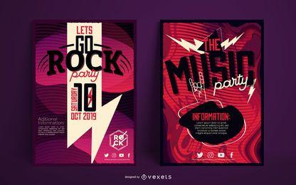Conjunto de plantillas de carteles de música