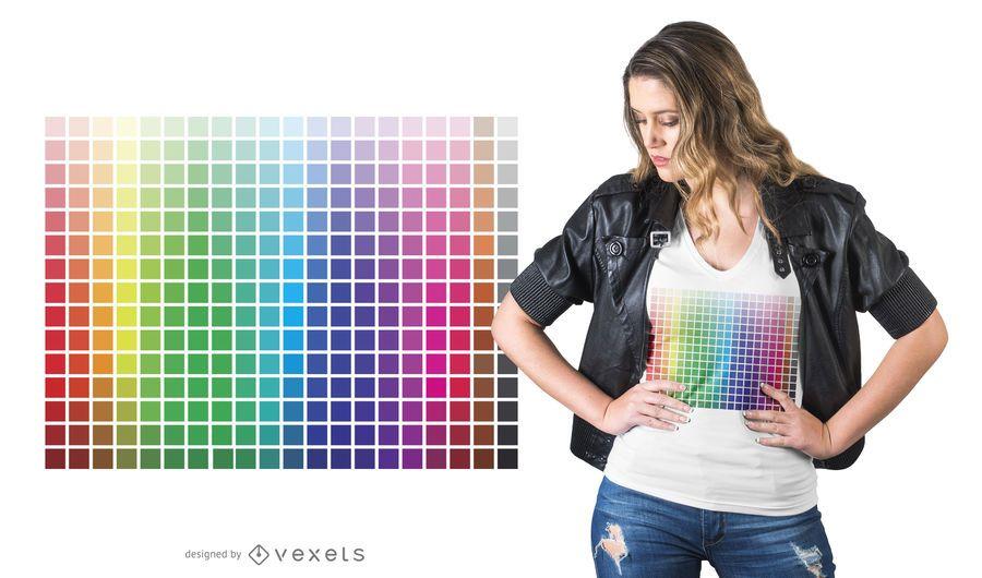 Design de t-shirt de grade de cor