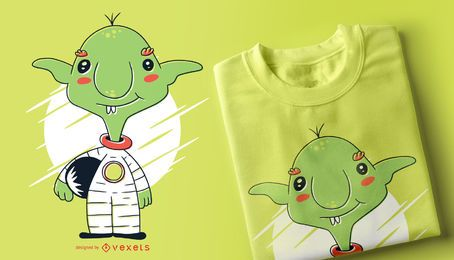 Kobold-Astronauten-T-Shirt Entwurf